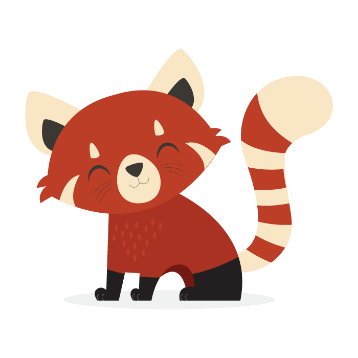 Tails the Red Panda - Red Panda PNG