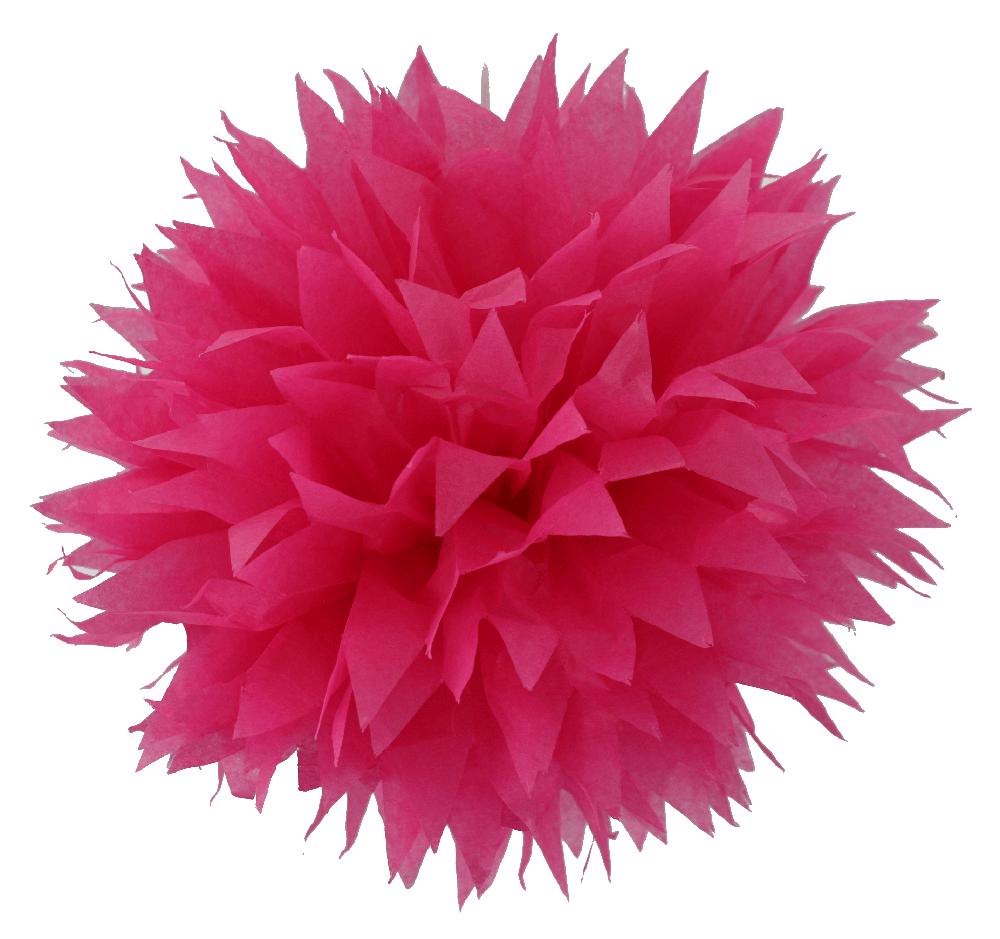 Red Pom Poms PNG-PlusPNG.com-