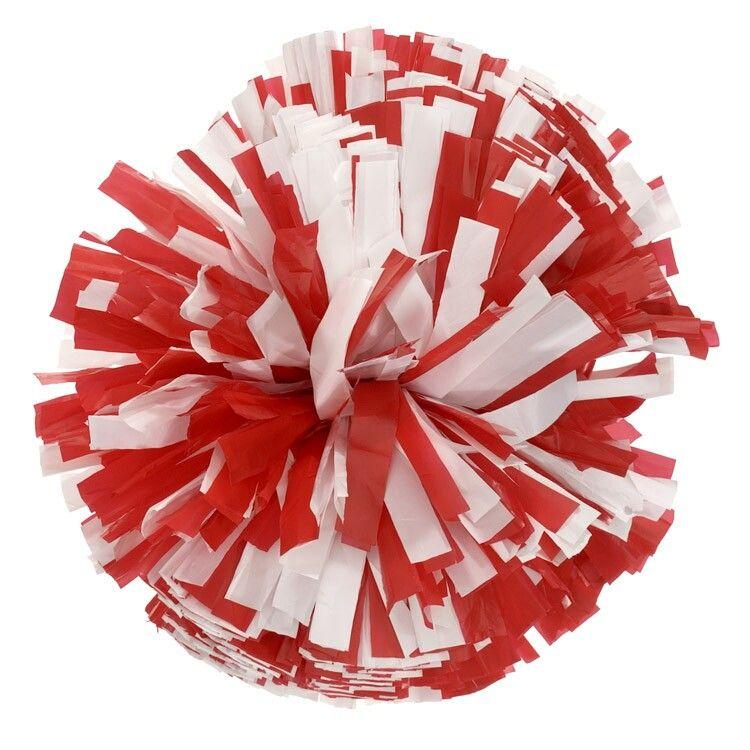 Pom Poms Clipart   Clip Art Pin - Red Pom Poms PNG