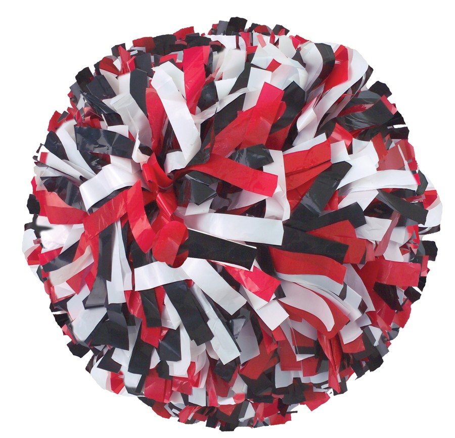 Stock Adult Three Color Plastic Pom - Red Pom Poms PNG
