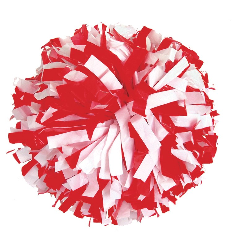 Stock Adult Two Color Plastic Pom - Red Pom Poms PNG