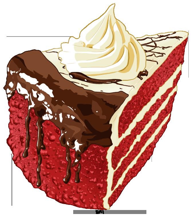 Red Velvet Cake by Eveeoni PlusPng.com  - Red Velvet Cake PNG