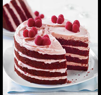 Red Velvet Cake with Raspberry Buttercream - Red Velvet Cake PNG