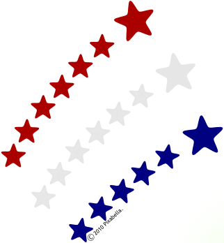 Kids Club Locations - Red White And Blue Star PNG