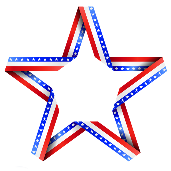 of July Stars Clipart - Red White And Blue Star PNG