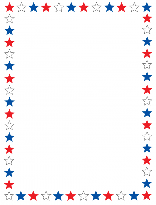 Paper Borders u2013 Red, White and Blue Stars - KidsPressMagazine pluspng.com - Red White And Blue Star PNG