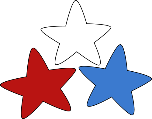 Patriotic Stars - Red White And Blue Star PNG