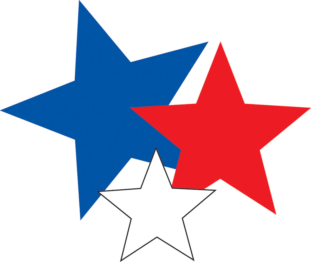 Red white and blue stars clipart - Red White And Blue Star PNG