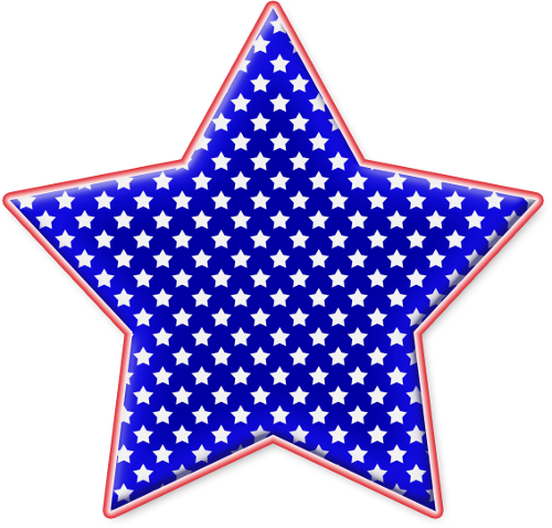 Star Red White And Blue Png Clipart by clipartcotttage PlusPng.com  - Red White And Blue Star PNG