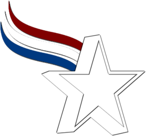 Star Red White Blue Image - Red White And Blue Star PNG