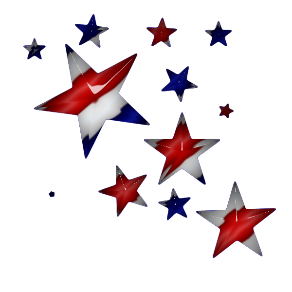 These are all transparent pngs, so just right click and save as. - Red White And Blue Star PNG