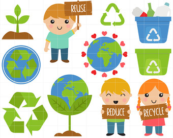 Reduce Reuse Recycle Earth PNG - 76342