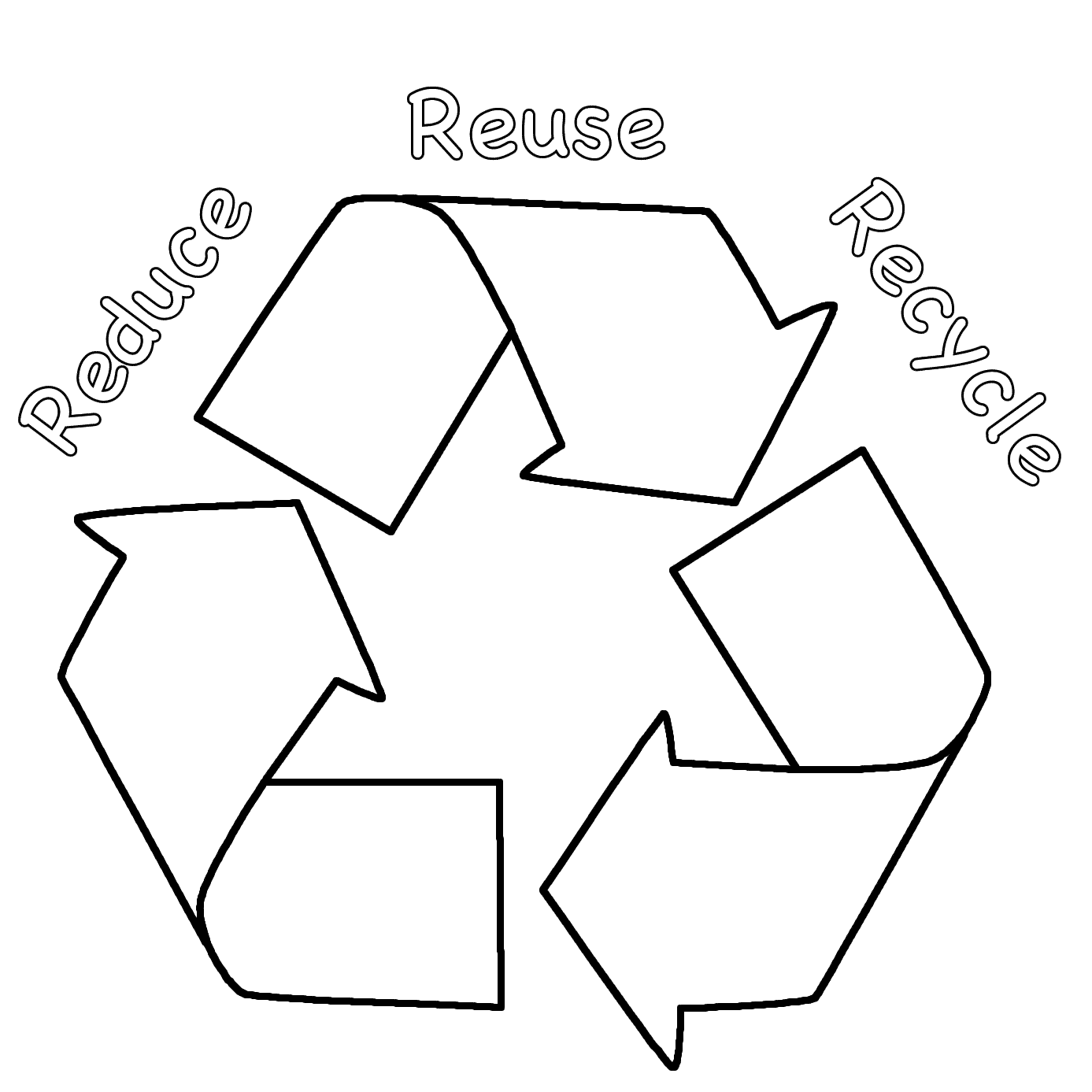 recycling coloring pages reduce reuse recycle coloring page earth day  gallery coloring ideas - Reduce Reuse Recycle Earth PNG