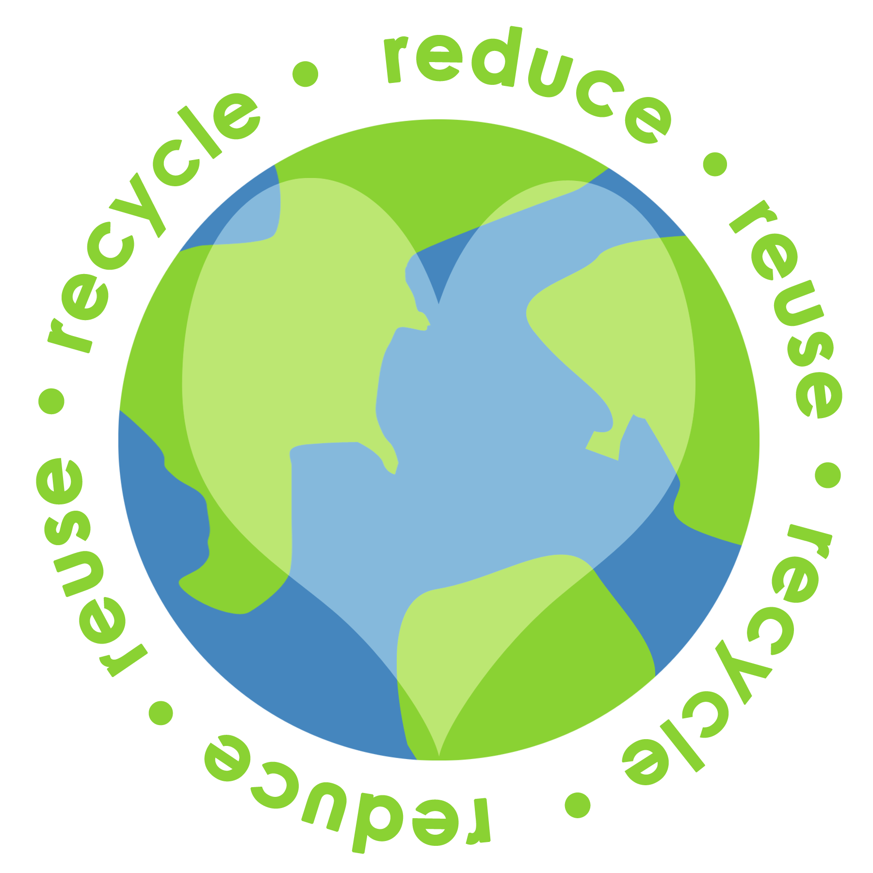 Reduce Reuse Recycle Earth PNG - 76334