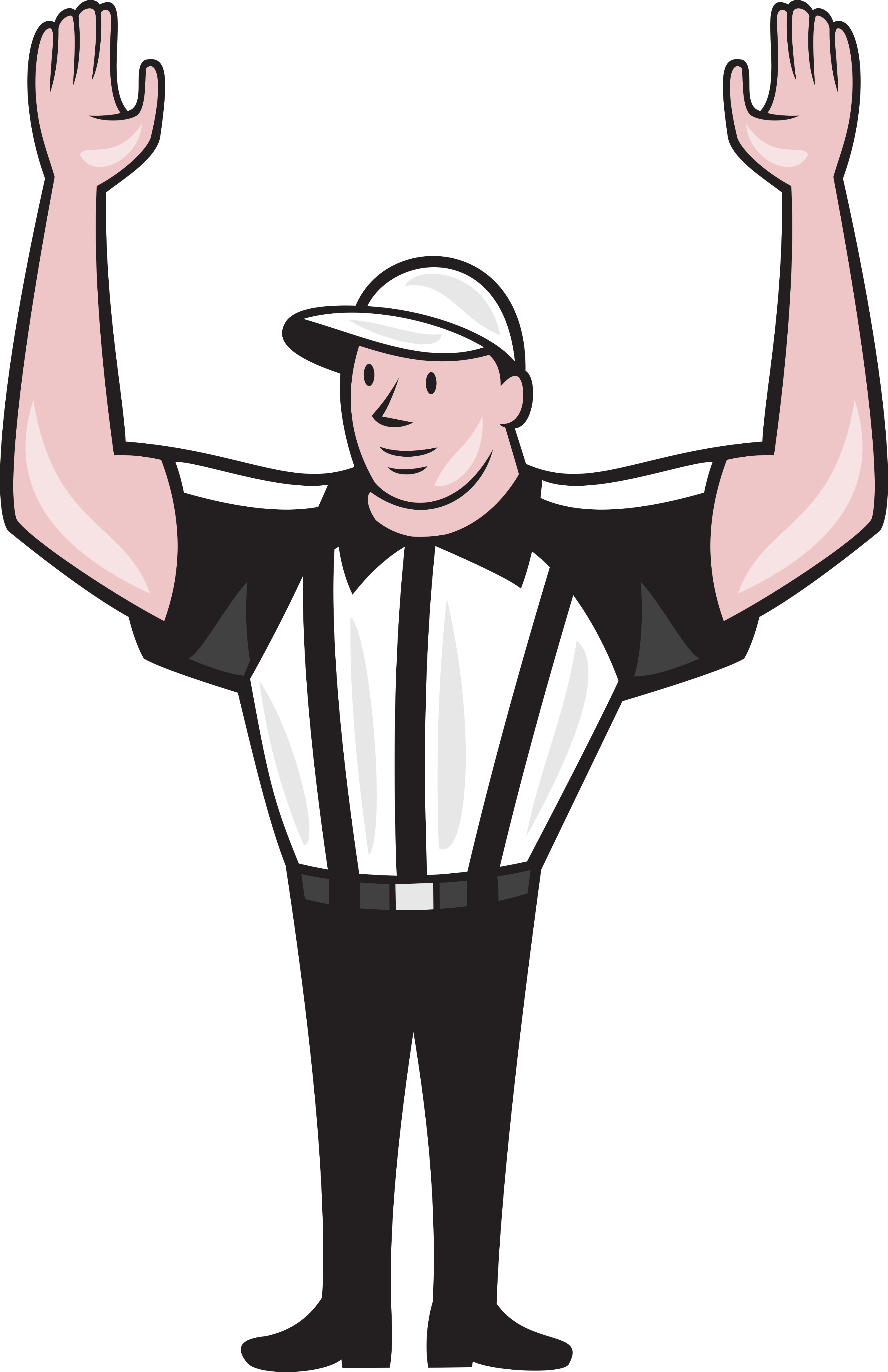 american-football-referee-frnt-touchdown-ol-051414 - Ref PNG