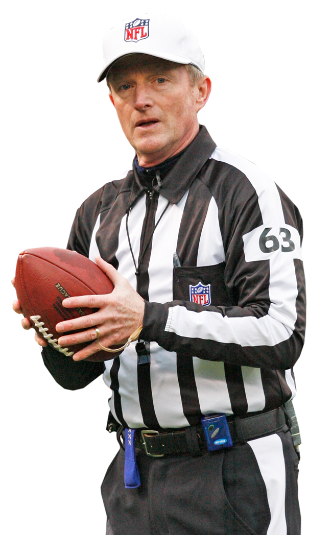 NFL referee and current supervisor of football officials for the Big Ten - Ref PNG