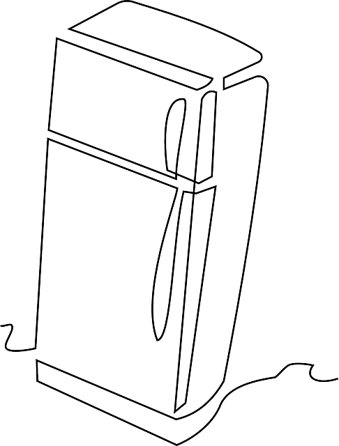 Refrigerator PNG Black And White - 75876