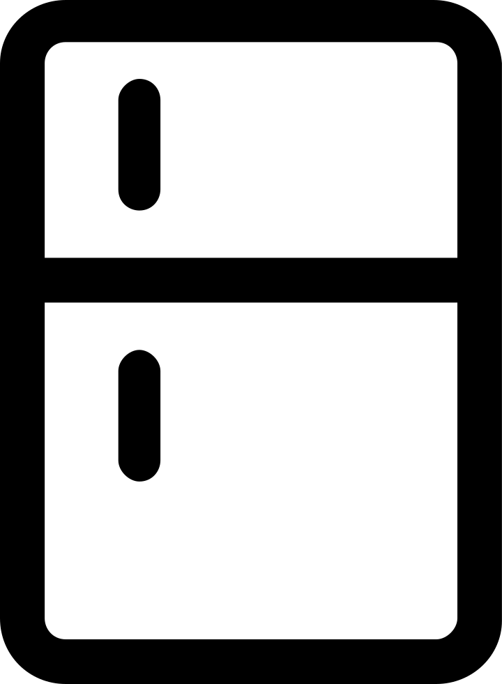 png file svg PlusPng.com  - Refrigerator PNG Black And White