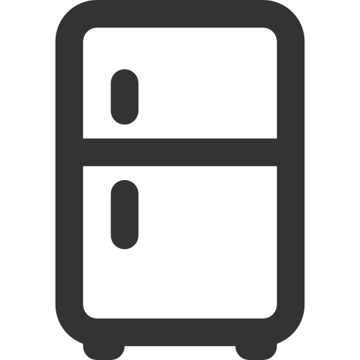 Refrigerator PNG Black And White - 75883