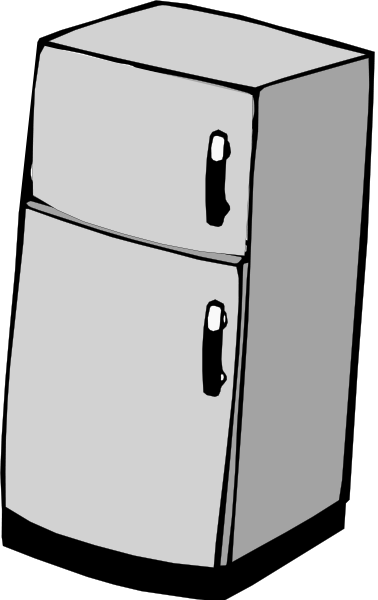 Refrigerator PNG images 378 x 600 - Refrigerator PNG Black And White