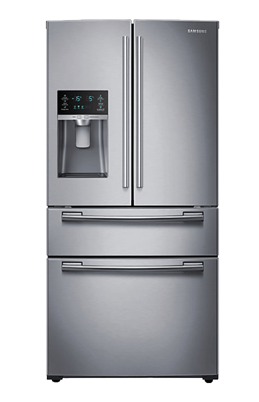 Samsung Bottom freezer and french doors Refrigerator - RF25HMEDBSR-AA - Refrigerator PNG