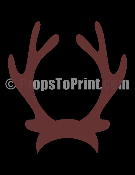Printable reindeer antlers photo booth prop. Create DIY props with our free  PDF template at - Reindeer Antlers PNG