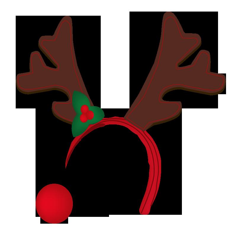 Reindeer Antlers Transparent Clipart image information - Reindeer Antlers PNG