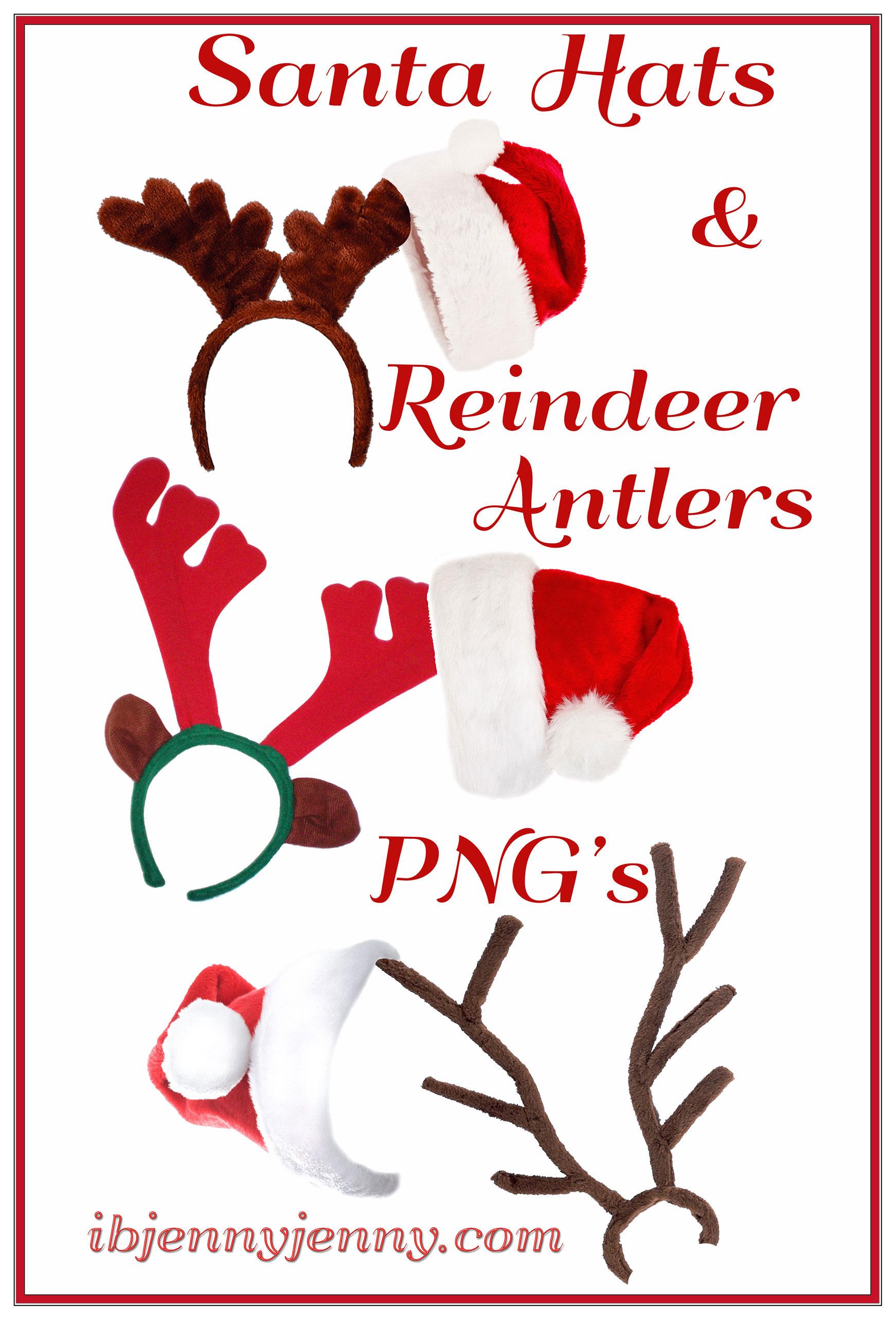 . PlusPng.com Santa Hats and Reindeer Antlers PNGu0027s by ibjennyjenny - Reindeer Antlers PNG