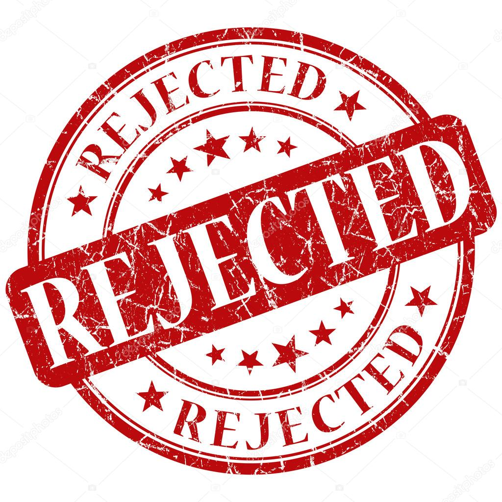 Rejected Stamp PNG - 3894