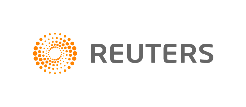 Five rings with large Reuters gray text - Reuters PNG