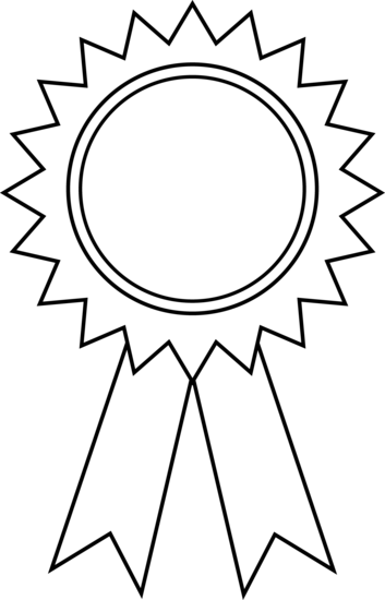 Prize clipart black and white. Ribbon Reward Cliparts - Reward PNG Black And White