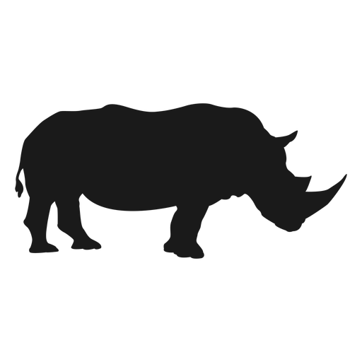 Rhino PNG Black And White - 60892