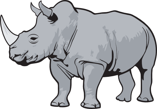 Rhino PNG Black And White - 60893