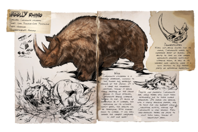 Dossier Empty.png Dossier Woolly Rhino.png - Rhinoceros PNG