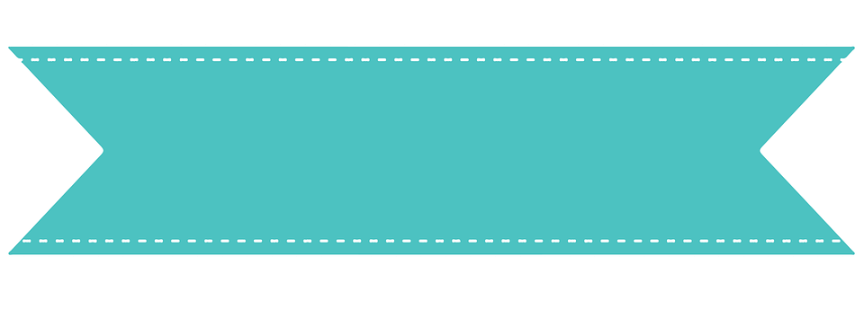 ribbon flag mint green stitches celebration - Ribbon PNG