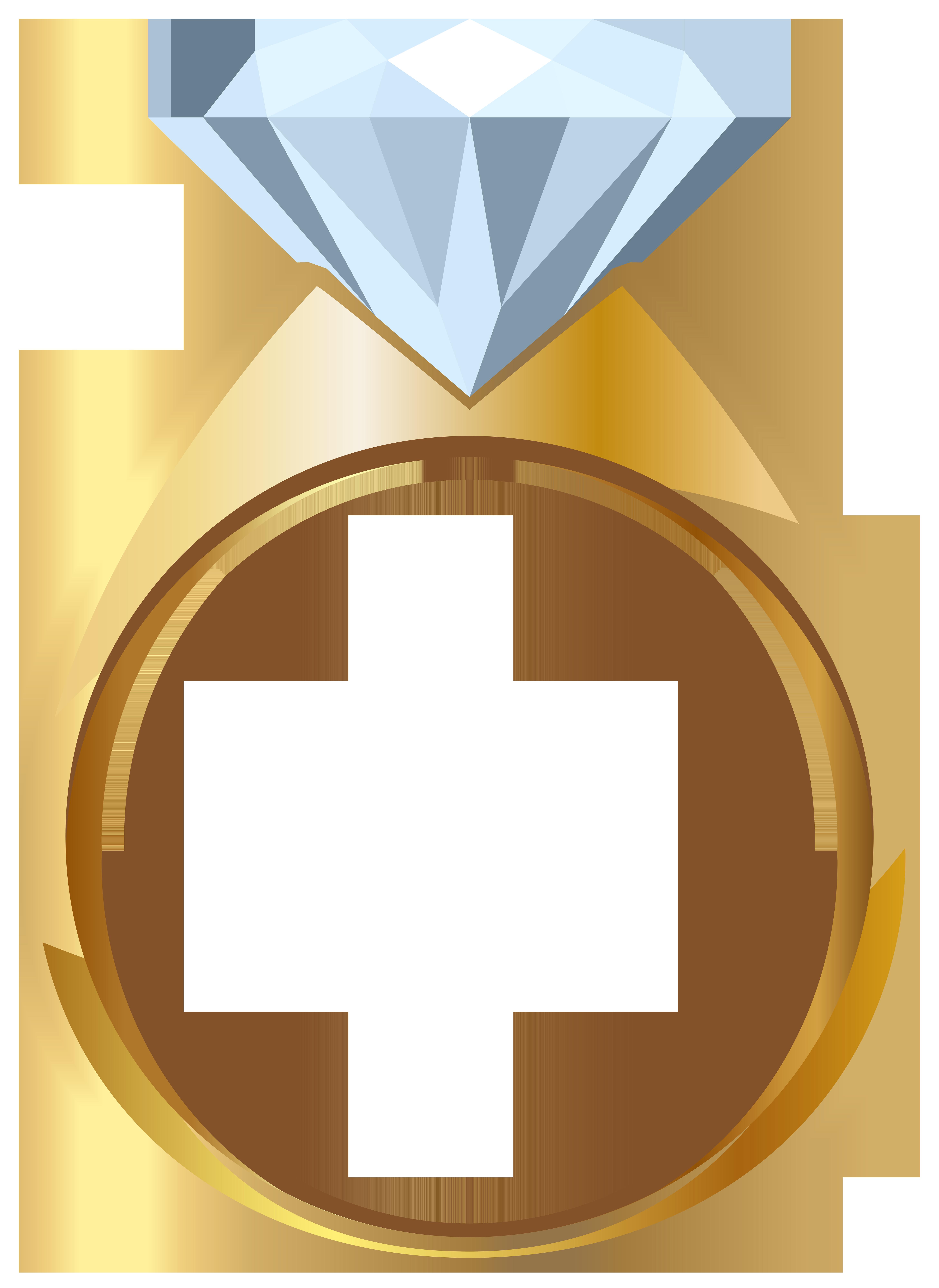 Gold Engagement Ring PNG Tran