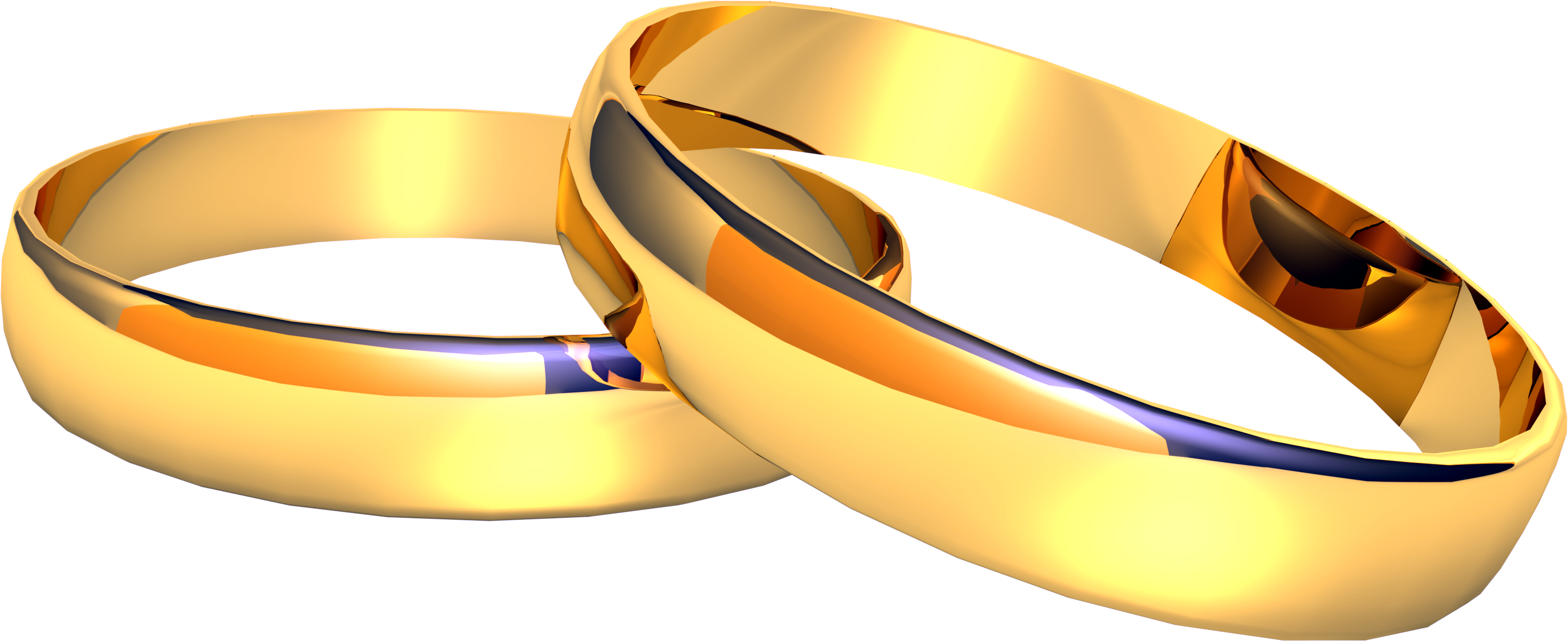 Wedding golden rings PNG imag