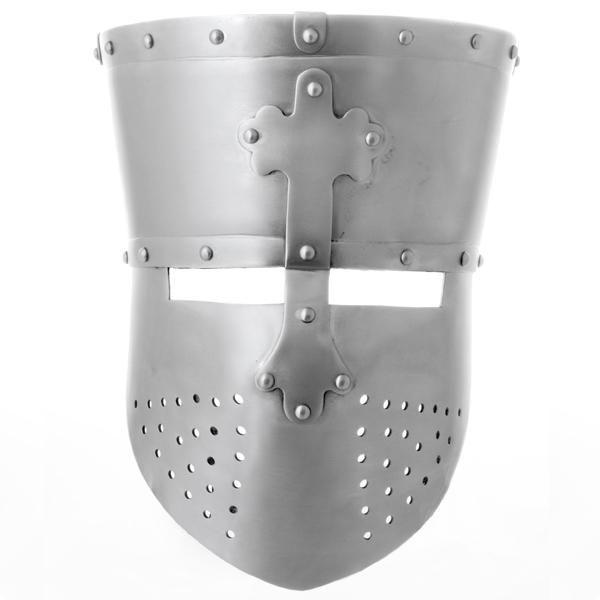 Mittelalterlicher Topfhelm - Ritterhelm PNG