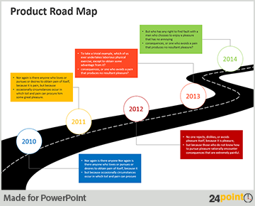 Communication Roadmap Strategy - PowerPoint Slide - Roadmap PNG Powerpoint