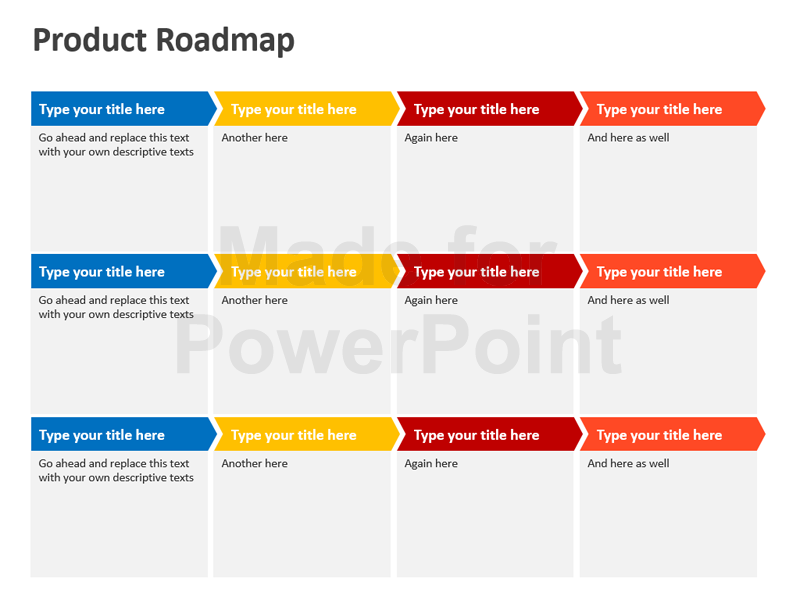 free roadmap powerpoint presentation templates product roadmap powerpoint  template editable ppt download - Roadmap PNG Powerpoint