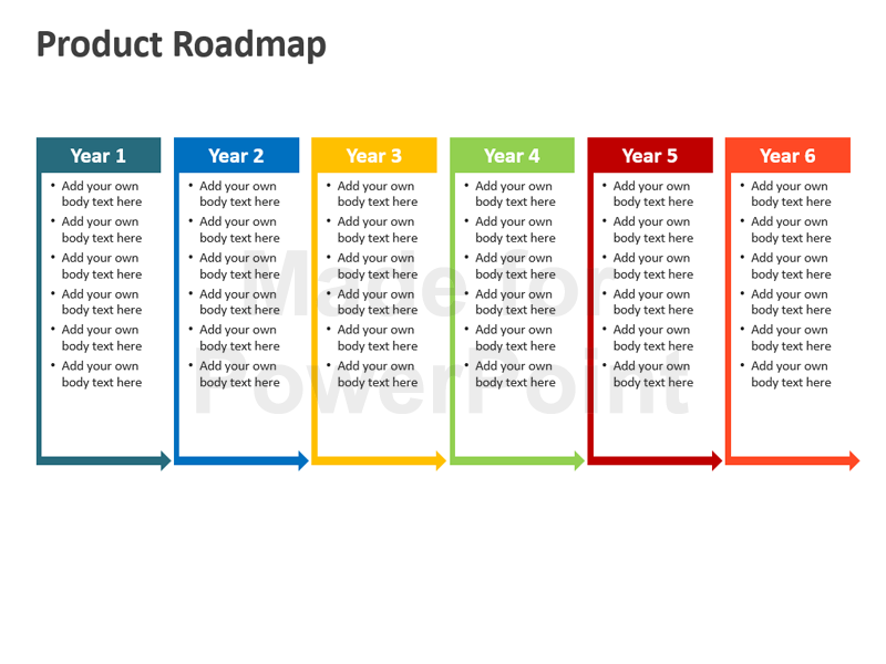 product presentation template ppt product roadmap powerpoint template  editable ppt templates - Roadmap PNG Powerpoint