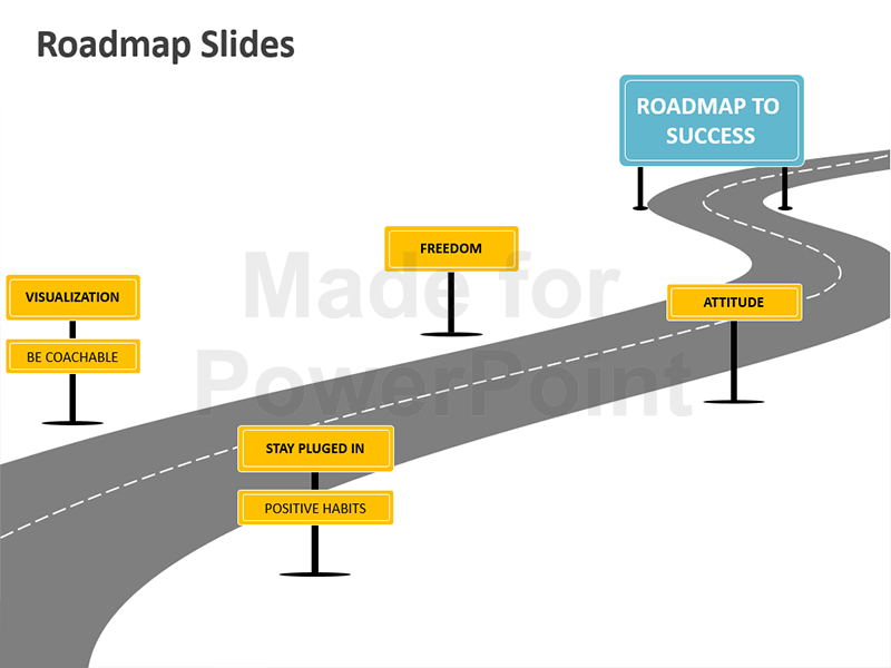 Roadmap Analogy Slides - Roadmap PNG Powerpoint