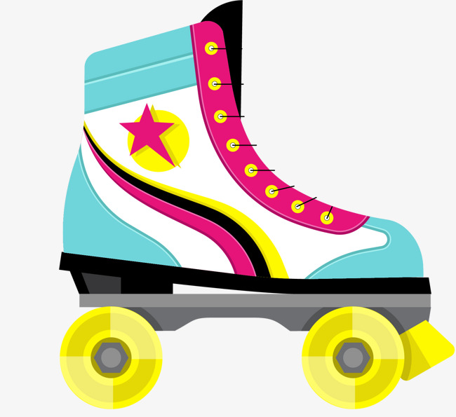 Vector painted skates, Vector, Hand Painted, Roller Skates PNG and Vector - Roller Skates PNG HD