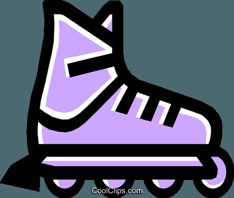 roller blades Royalty Free Vector Clip Art illustration - Rollerblades PNG