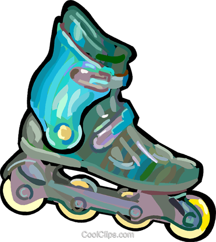 Rollerblades Royalty Free Vector Clip Art illustration - Rollerblades PNG