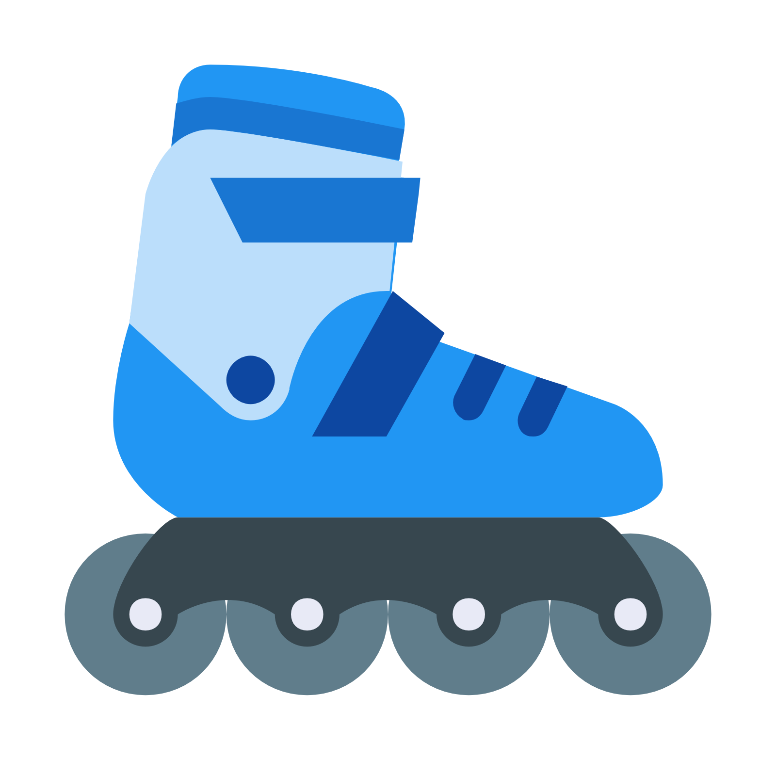 These are rollerblades. It is a shoe with very small wheels attached to it  at. PNG 50 px - Rollerblades PNG