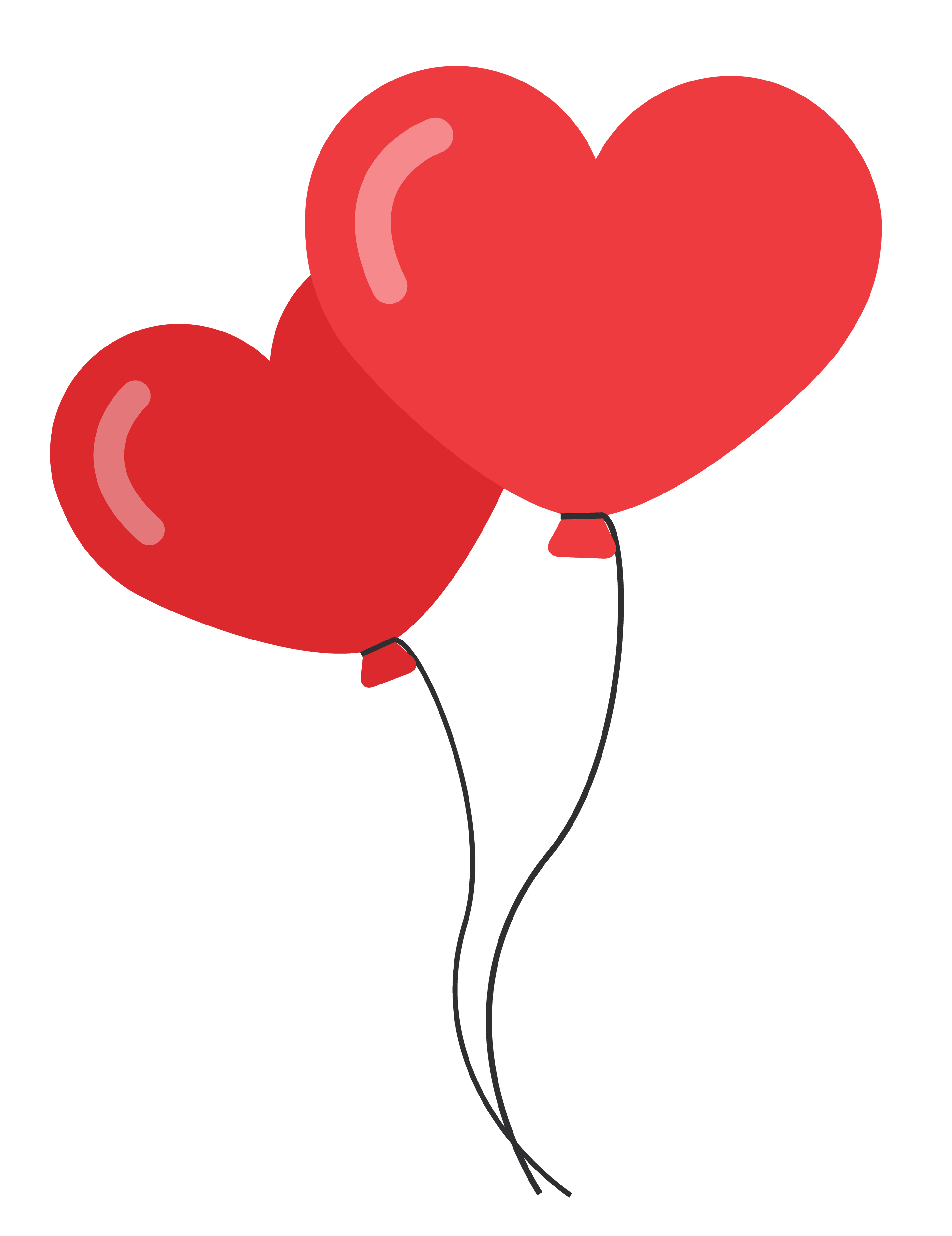 Heart Shaped Balloons PNG image - Romance PNG