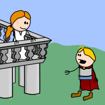 Romeo Juliet Balcony Scene Clip Art - Romeo And Juliet Balcony Scene PNG