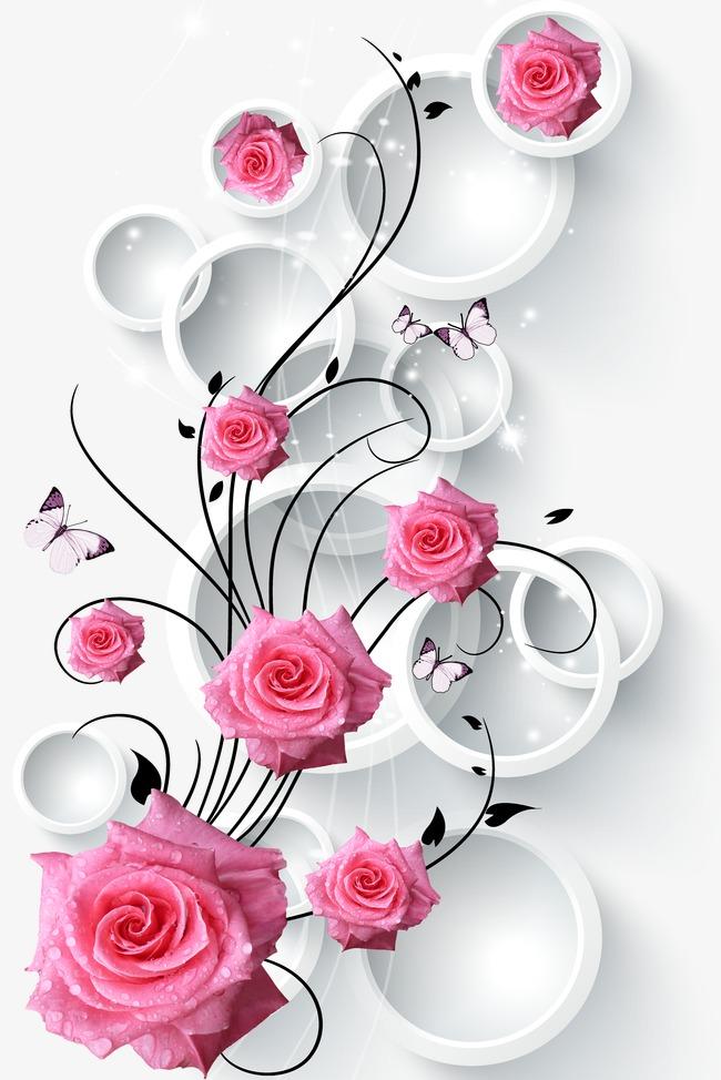 3d circle rose vine, Flowers, Flower Vine, Rose PNG and PSD - Rose Vine PNG HD