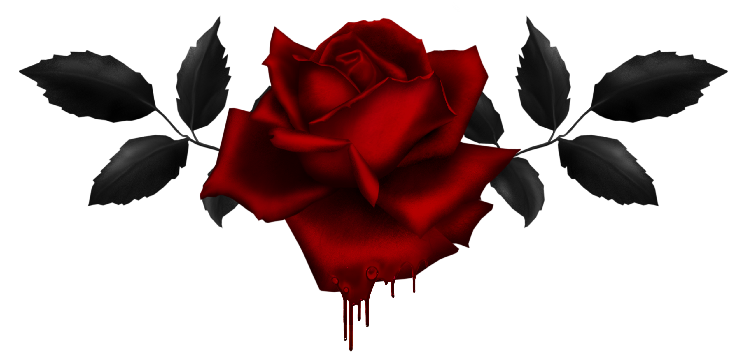 Gothic Rose PNG Image - Rose Vine PNG HD